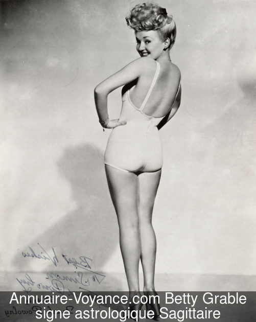 Betty Grable Sagittaire
