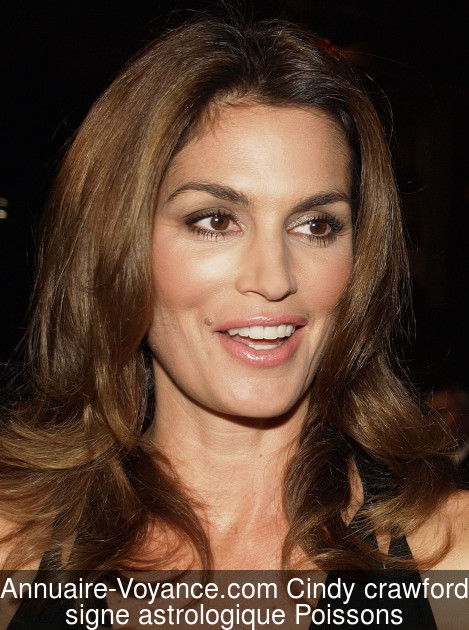 Cindy crawford Poissons