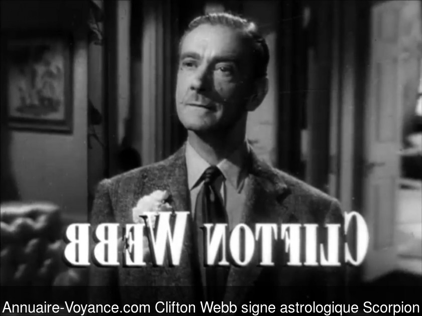 Clifton Webb Scorpion