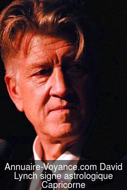 David Lynch Capricorne