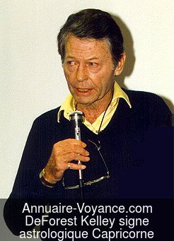 DeForest Kelley Capricorne