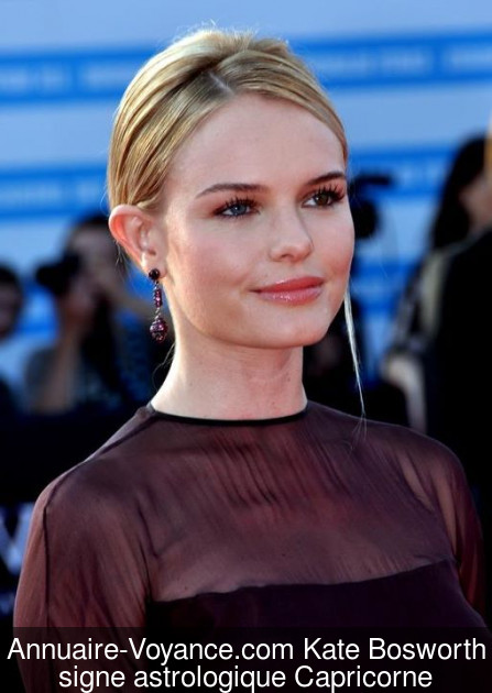 Kate Bosworth Capricorne