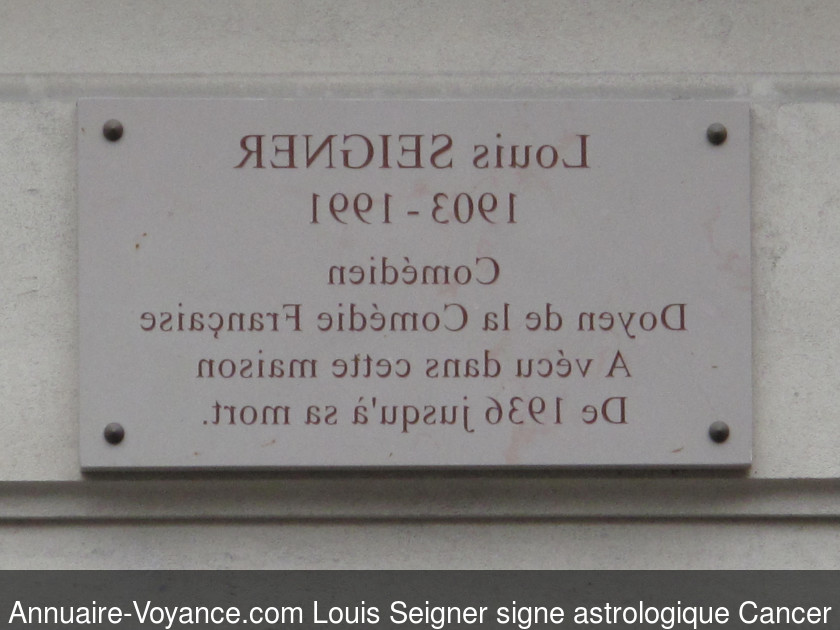 Louis Seigner Cancer