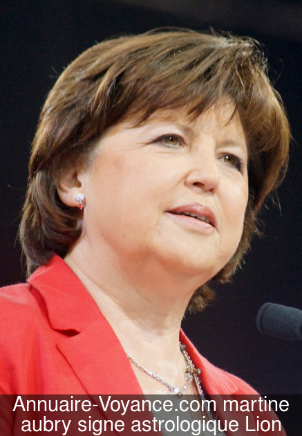 martine aubry Lion