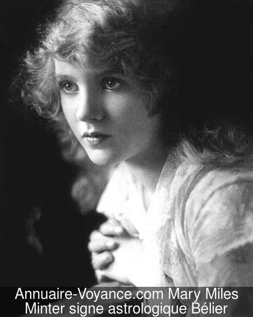 Mary Miles Minter Bélier