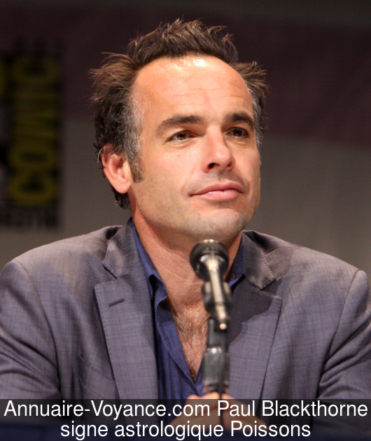 Paul Blackthorne Poissons