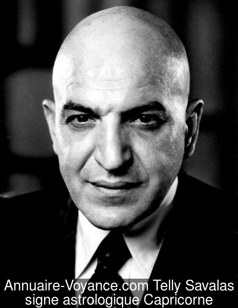 Telly Savalas Capricorne