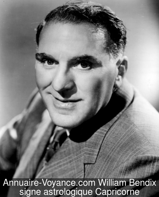 William Bendix Capricorne