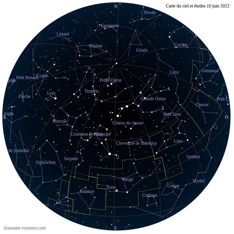 carte du ciel 10-juin