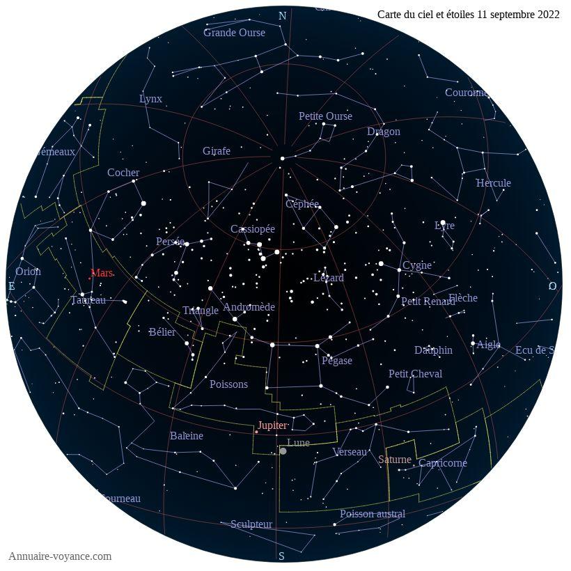 carte du ciel 11-septembre