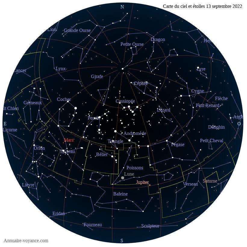 carte du ciel 13-septembre