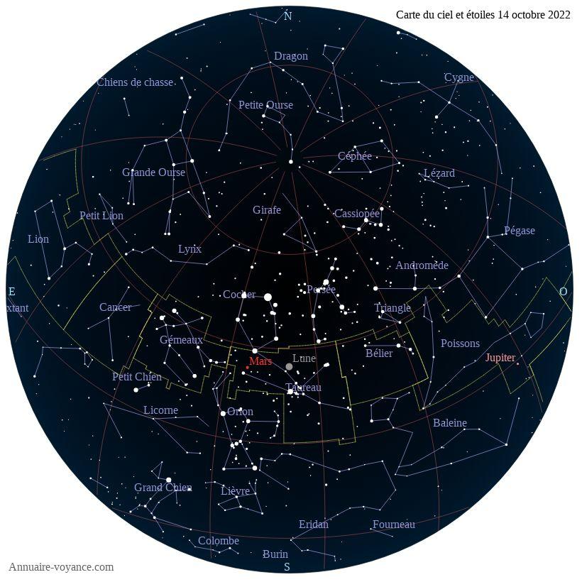 carte du ciel 14-octobre