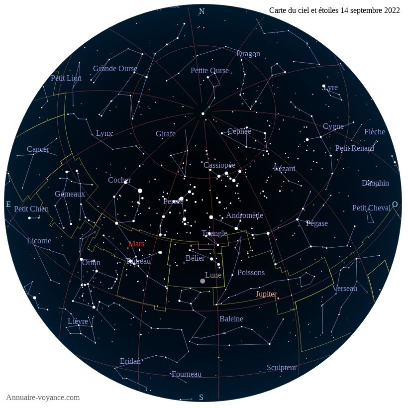 carte du ciel 14-septembre