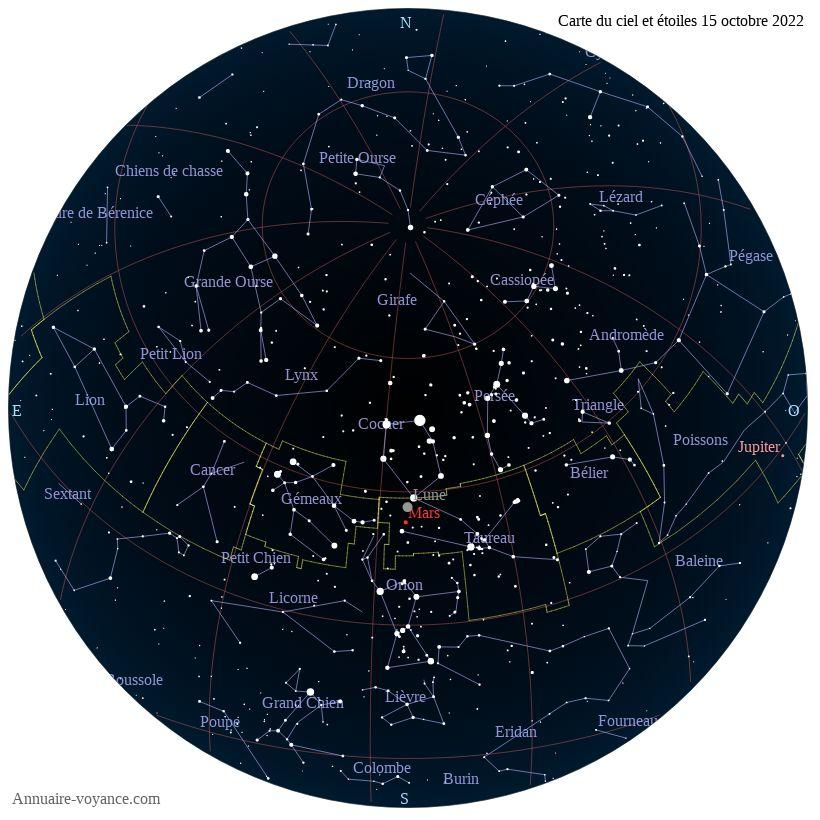 carte du ciel 15-octobre