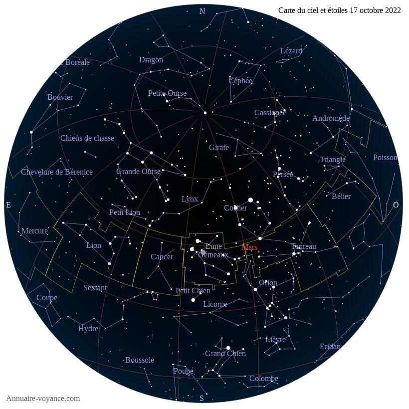 carte du ciel 17-octobre
