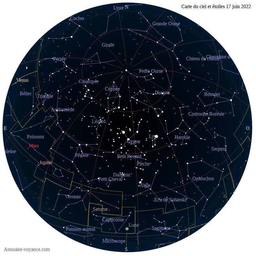 carte du ciel 17-juin