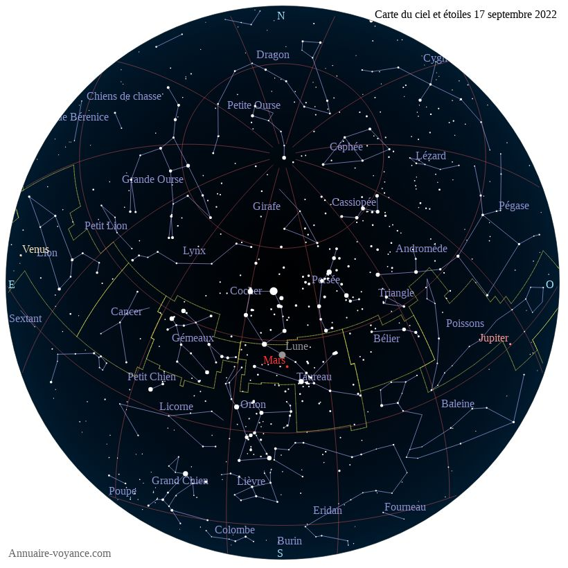 carte du ciel 17-septembre