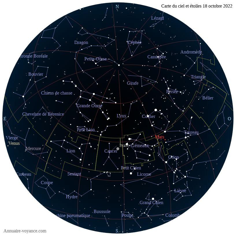 carte du ciel 18-octobre