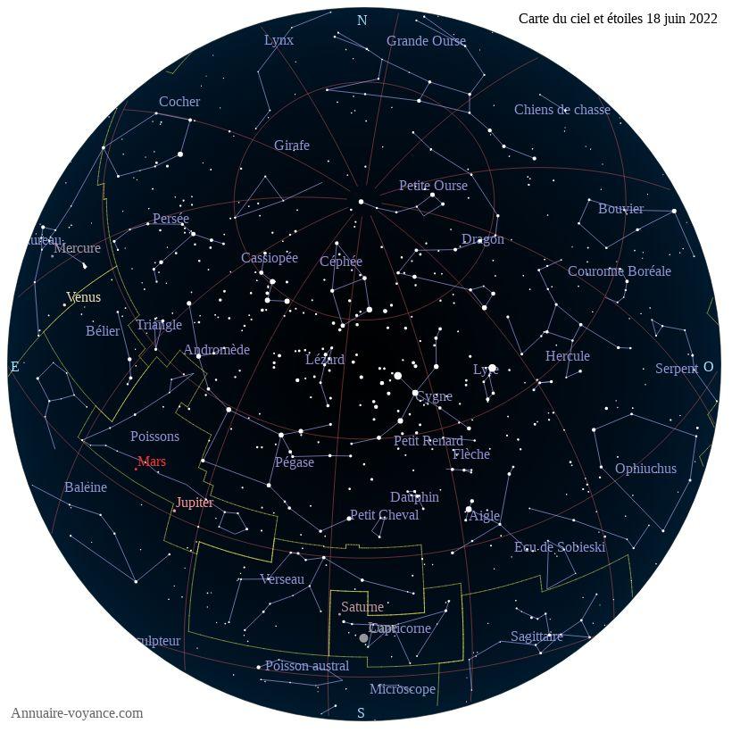 carte du ciel 18-juin