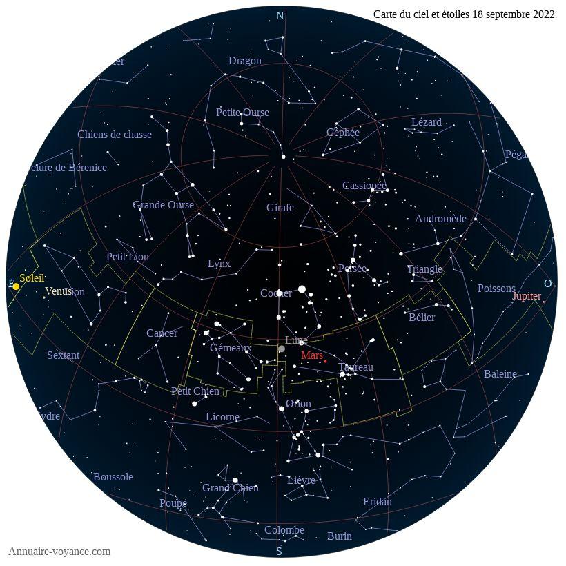 carte du ciel 18-septembre
