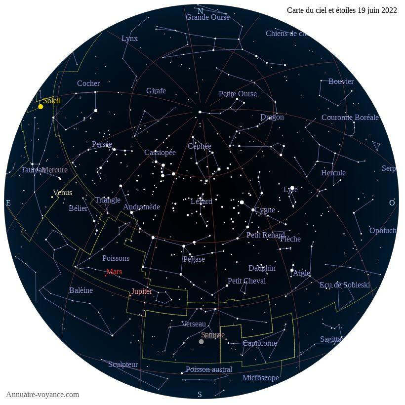 carte du ciel 19-juin