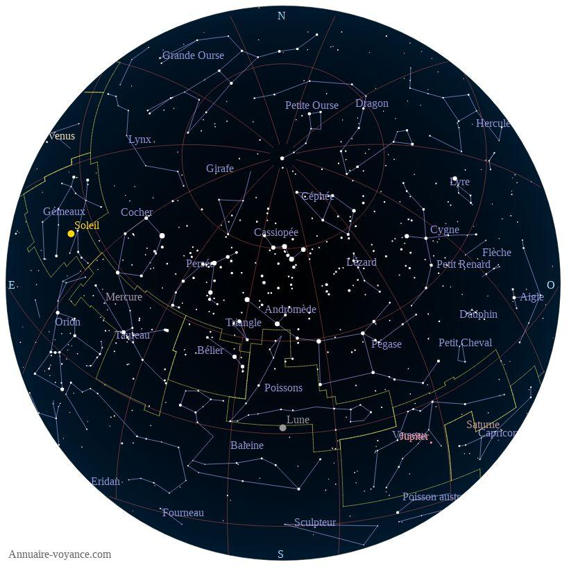 carte du ciel 2-juillet