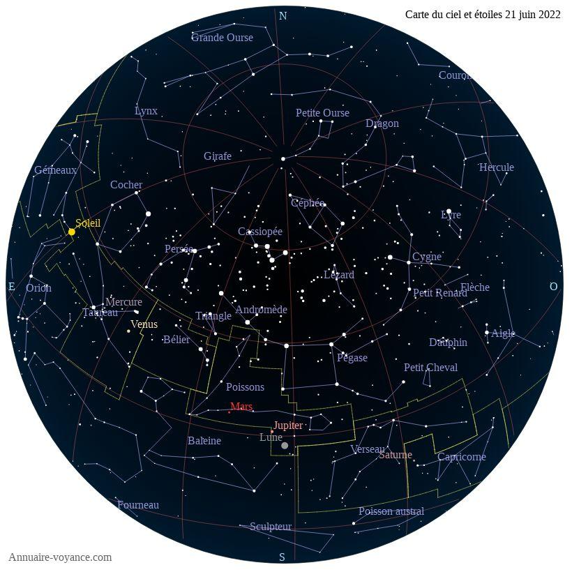 carte du ciel 21-juin