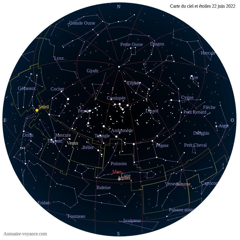 carte du ciel 22-juin