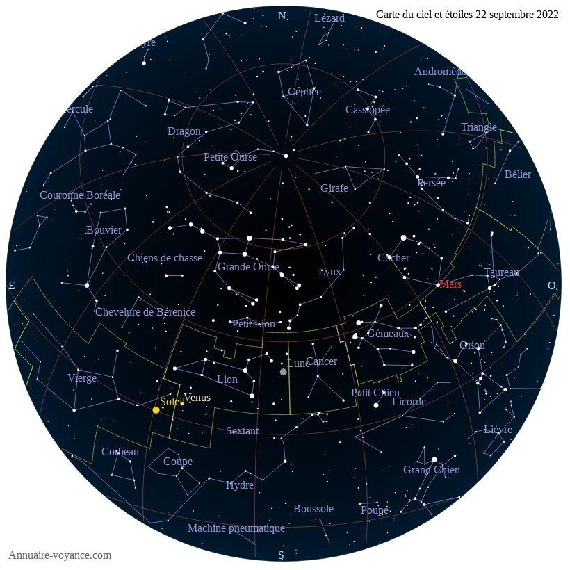 carte du ciel 22-septembre