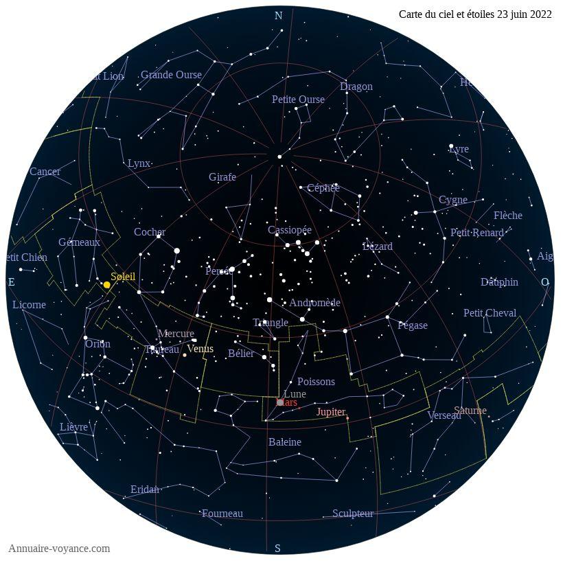 carte du ciel 23-juin