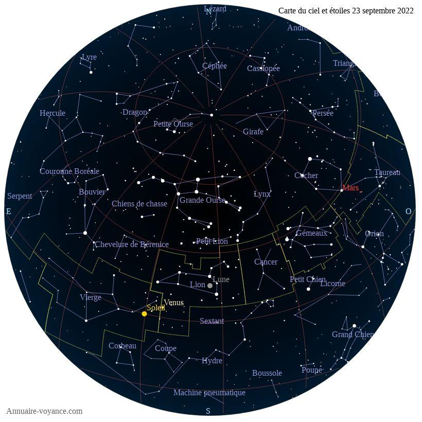 carte du ciel 23-septembre