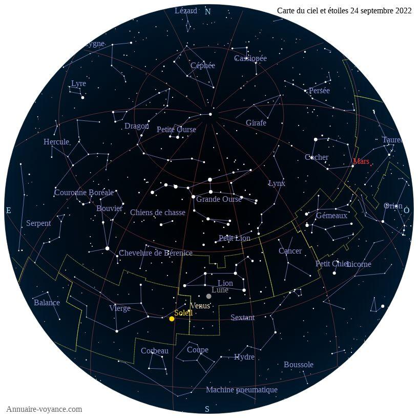 carte du ciel 24-septembre