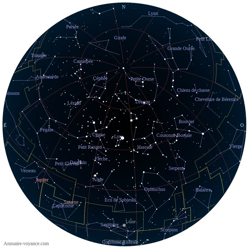carte du ciel 25-juin