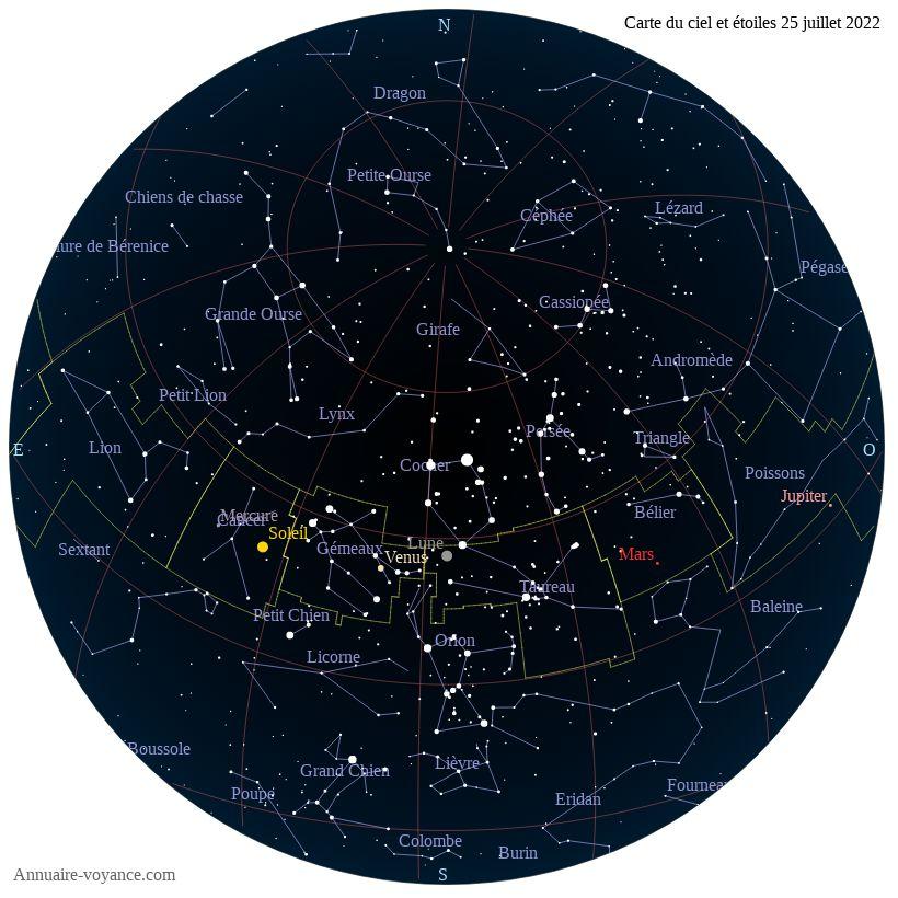 carte du ciel 25-juillet