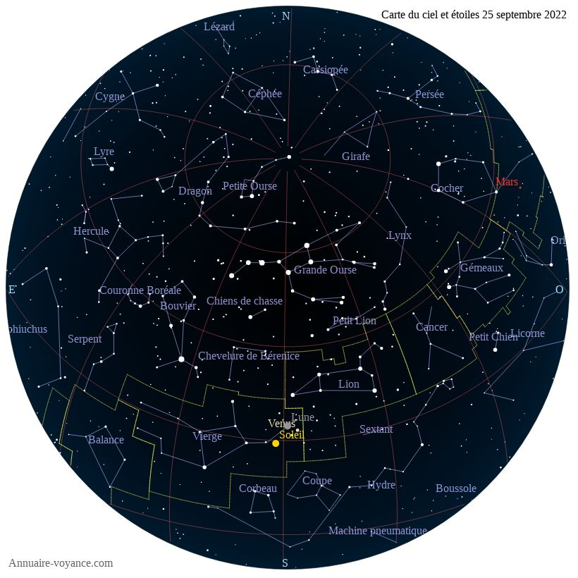 carte du ciel 25-septembre