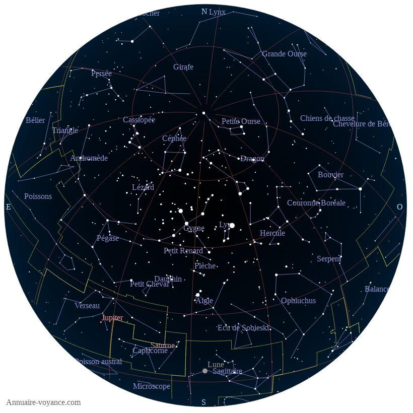 carte du ciel 26-juin