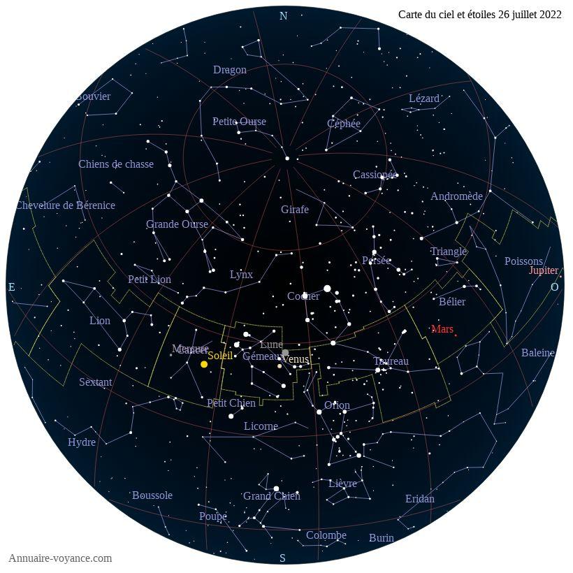 carte du ciel 26-juillet