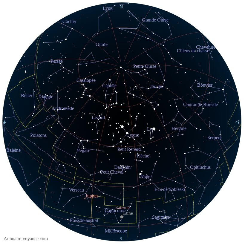 carte du ciel 27-juin