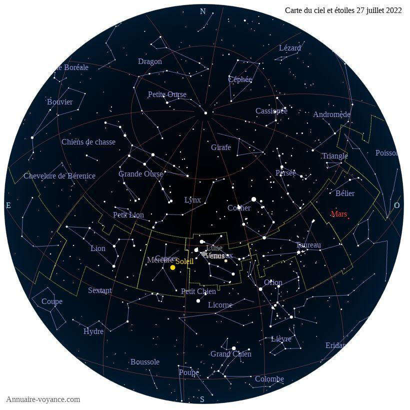 carte du ciel 27-juillet