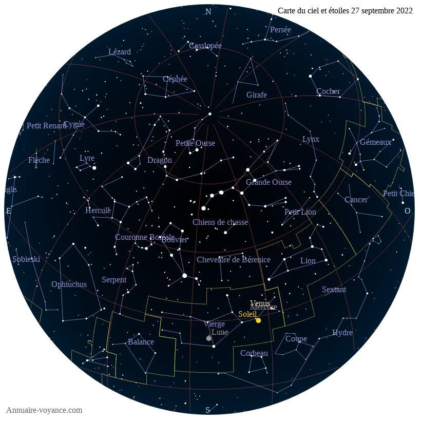carte du ciel 27-septembre