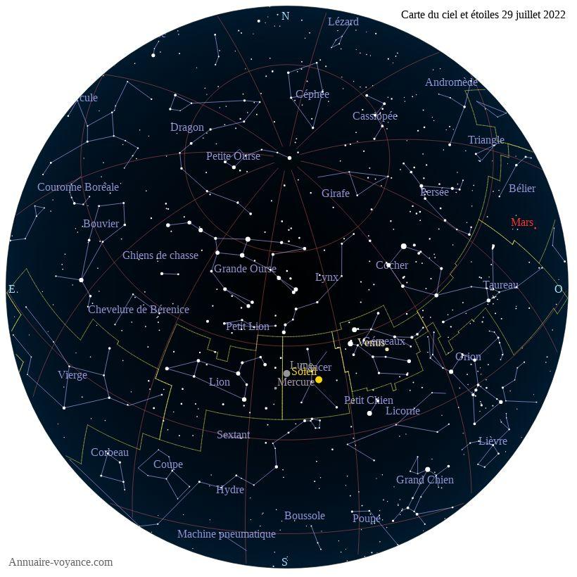 carte du ciel 29-juillet