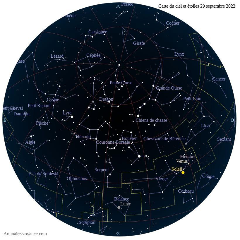 carte du ciel 29-septembre