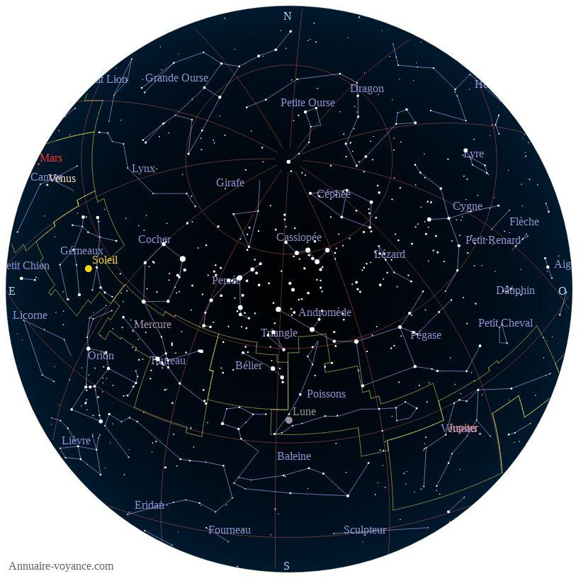 carte du ciel 3-juillet