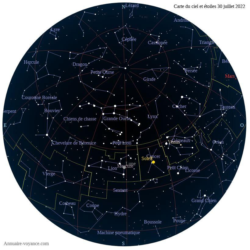 carte du ciel 30-juillet