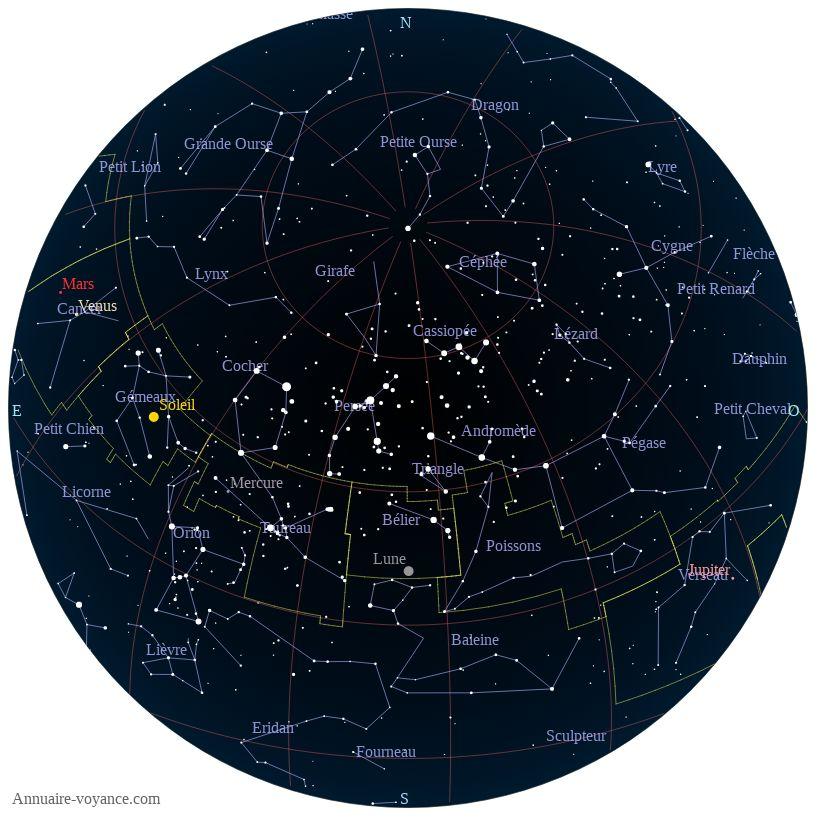 carte du ciel 4-juillet