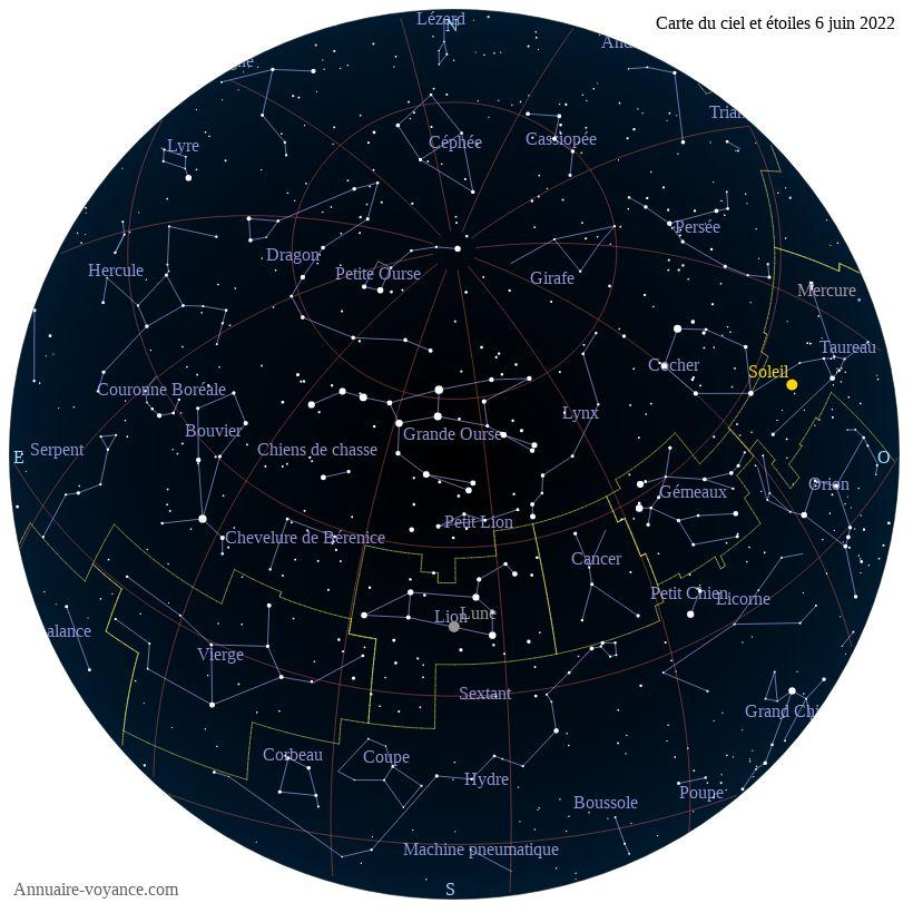 carte du ciel 6-juin