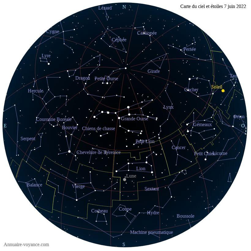 carte du ciel 7-juin